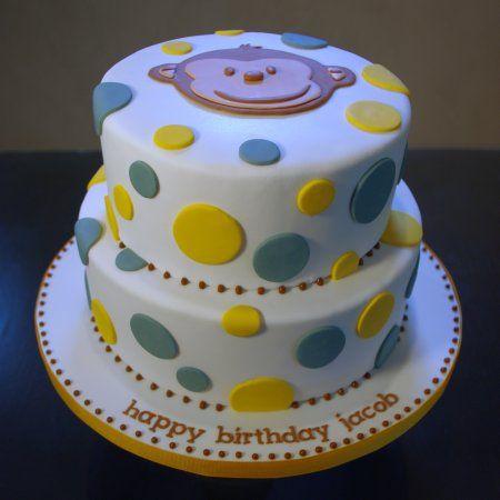 Mod Monkey & Polka Dot Birthday Cake | Nicole McGarry | Flickr