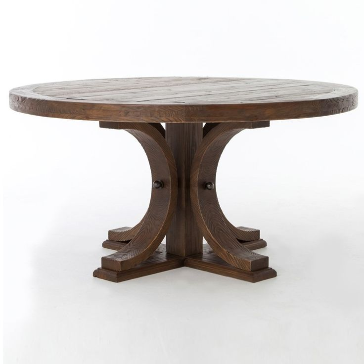 Lugo Reclaimed Wood 60 Round Pedestal Dining Table