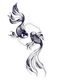 black and white beta fish tattoo - Google Search