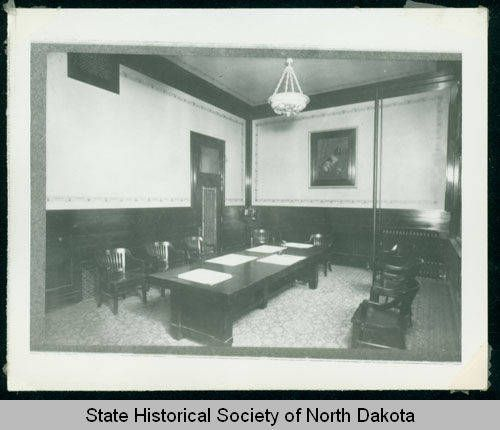 Boardroom, First National Bank, Bismarck, N.D. :: State Historical Society of North Dakota (SHSND)