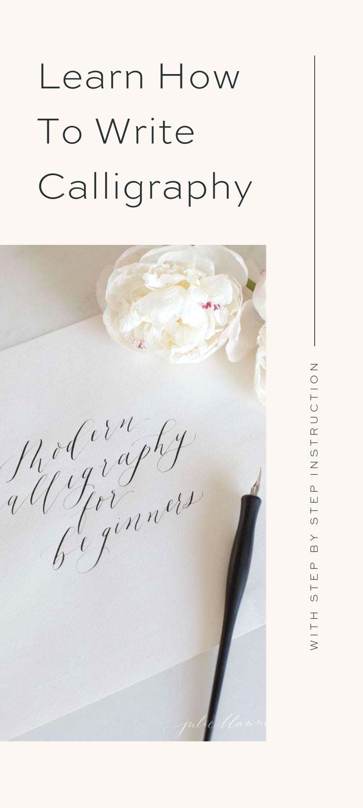 Learn the basics of how to write calligraphy starting with how to