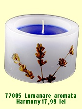 Lumanare handmade decorativa cu ulei esential si flori de lavanda. Decorative candle handmade with lavander oil and lavander flowers. Relax and enjoy the aroma!