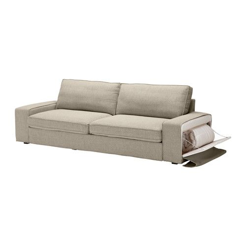 Kivik Sofa Bed From Ikea Pulls Out To A Full Bed And The Arm Unzips For Bedding Storage For