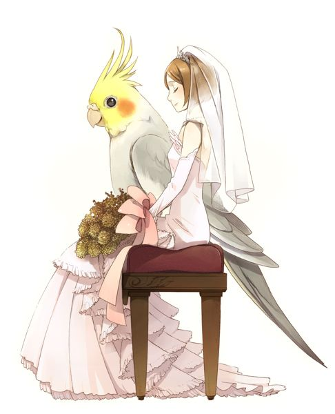 Awwww I see this as Rabu walking Hiyoko up the isle... because she has no parents *sob*
