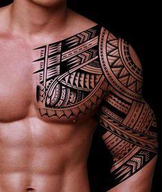 Half Sleeve Tribal Tattoo Designs For Men