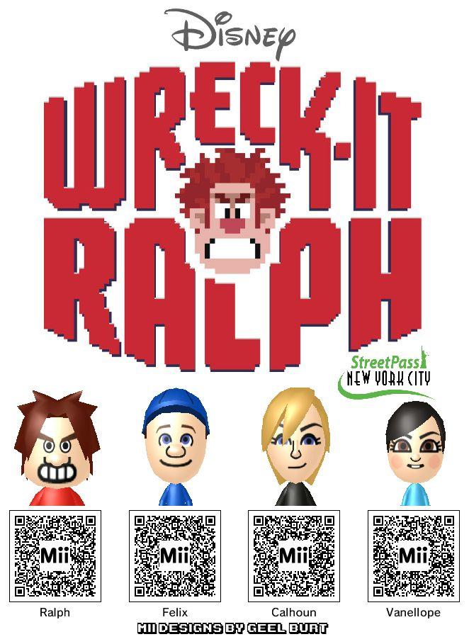 Get Your Wreck-It Ralph Mii Codes Here | Kotaku Australia