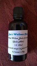 Corteza de sauce blanco Tintura - (ácido salicílico) Bio Orgánico ~ aspirina a base de hierbas 50ml