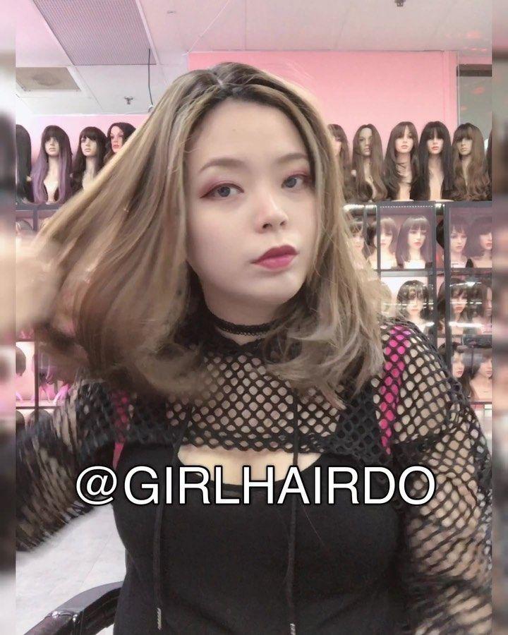#hair #hairstyle New shoulder length wig Long fringe. Code 17M honey brown price $199 girlhairdo #wig #wigs #naturalwigs