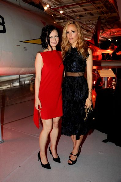 Mary Lynn Rajskub and Kim Raver attend 24: Live Another Day World Premiere Event for Fox on Intrepid Sea, Air & Space Museum on May 2, 2014 in New York City.