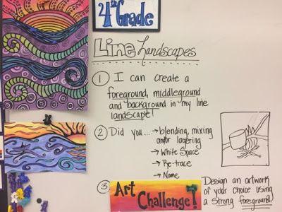 Fourth Grade Landscapes (Jamestown Elementary Art Blog)