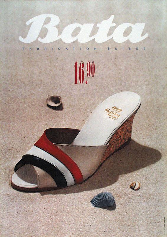 Poster by Leupin Herbert for Bata - 1959 #batashoes #bata120yearsadvertising