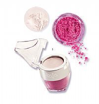 Skin Attraction (Cream + Powder) No 3. Skin Attraction is a precious cream and scented shimmering powder to give your face a special radiance made of pure light.    The all over cream is soft and tender, it brightens you skin with a transparent and sparkling light.  Its brand new pearls with 'shine booster' radiance enhancer effect gently colours your skin with the delicate effect of precious stones.    It can be used on the eyelids, face, cheekbones and lips.