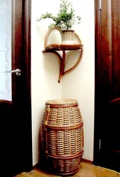 Корзины, коробы ручной работы. Ярмарка Мастеров - ручная работа Короб для хранения плетеный. Handmade.