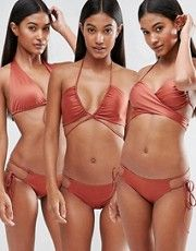 Hot As Hell Copper Multiway Bikini Top I think this can be done with any basic bikini top