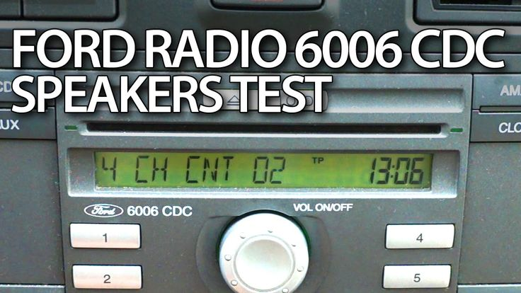 How to #test #speakers in #Ford 6006 CDC #radio hidden #service menu #Mondoe #Focus #Fiesta #cars