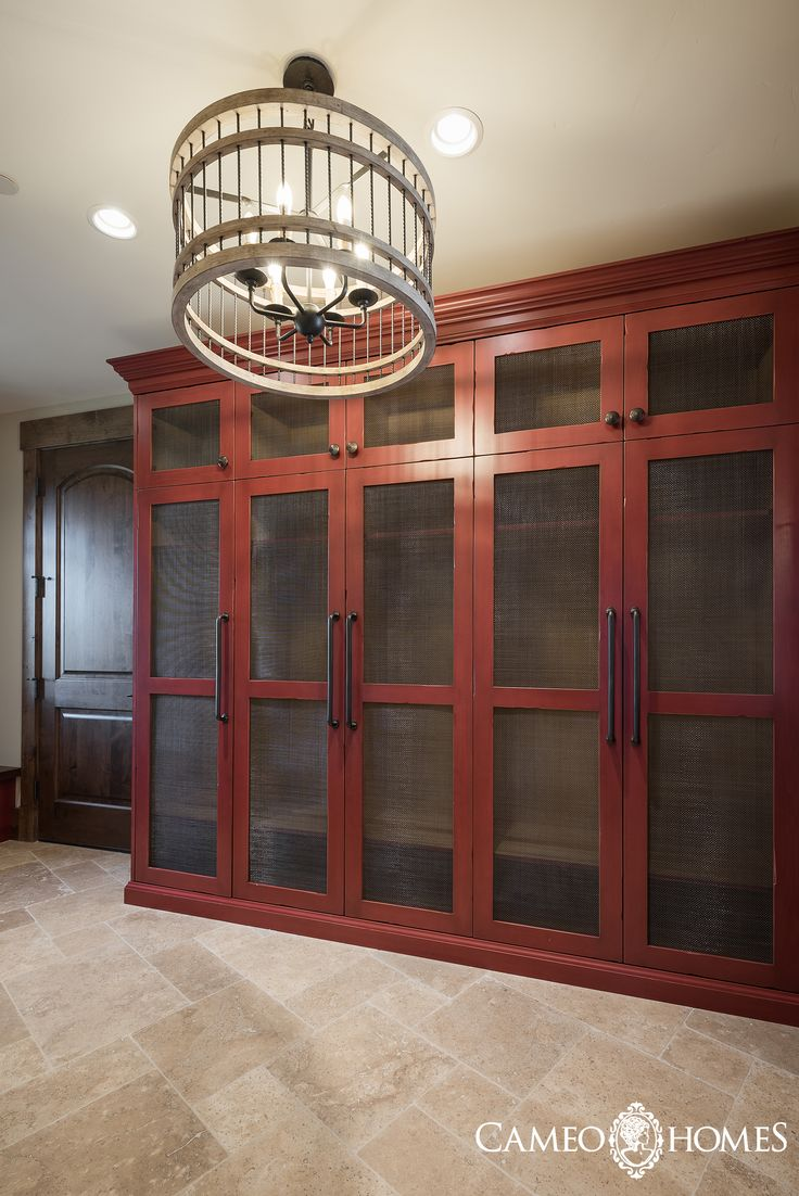 Spacious Mud Room With Red Lockers And Amazing Lighting Home Built By Park City