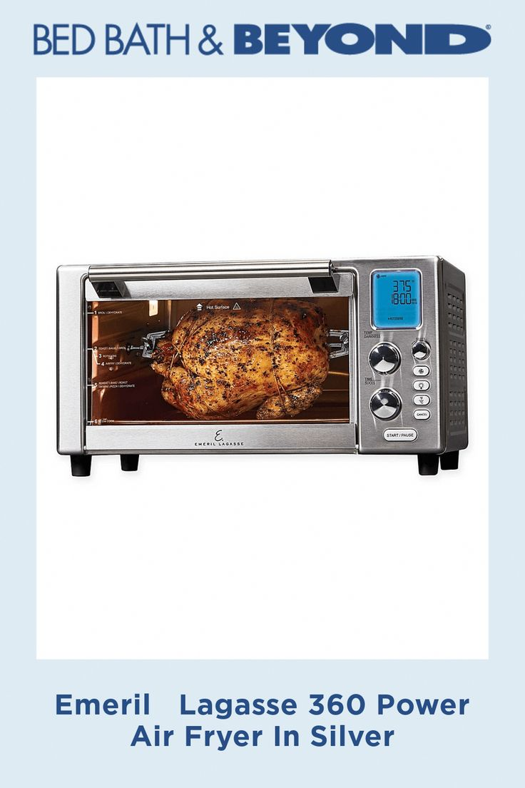 Emeril lagasse 360 power air fryer in silver cookingfood