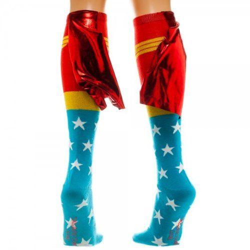 Wonder Woman Knee High Socks with Shiny Cape, One Size Bioworld http://www.amazon.com/dp/B00IYTXKBK/ref=cm_sw_r_pi_dp_129Kvb1J9AYPR