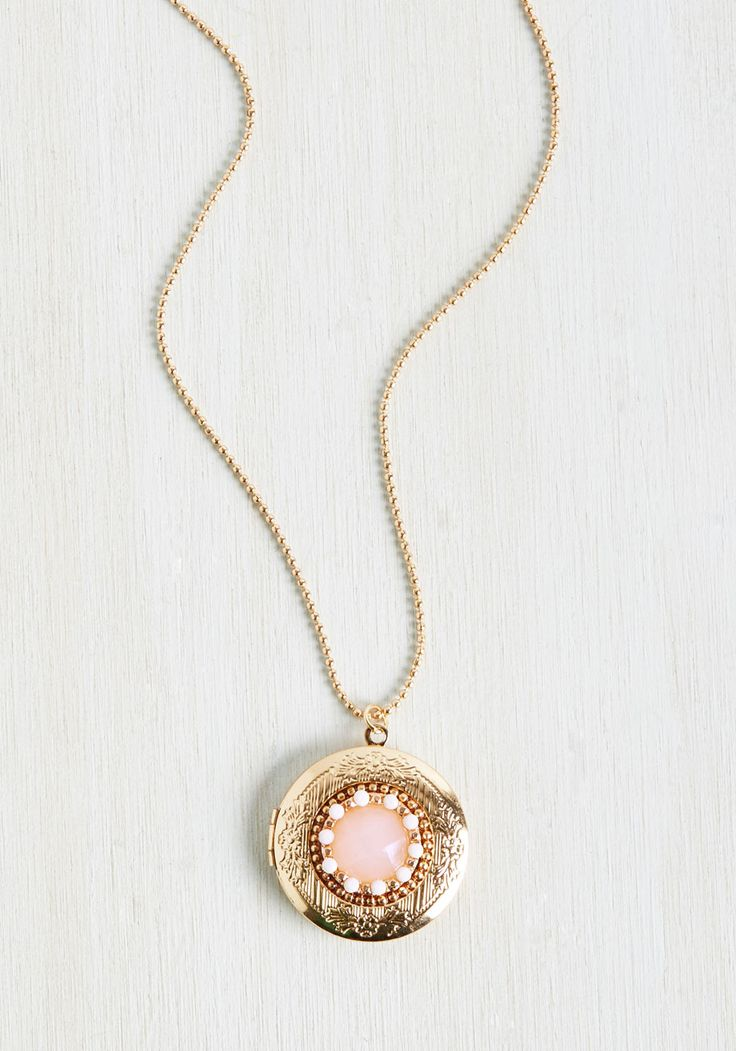 Goldie Locket Necklace. This vintage-inspired necklace is as timeless as a fairytale.  #modcloth