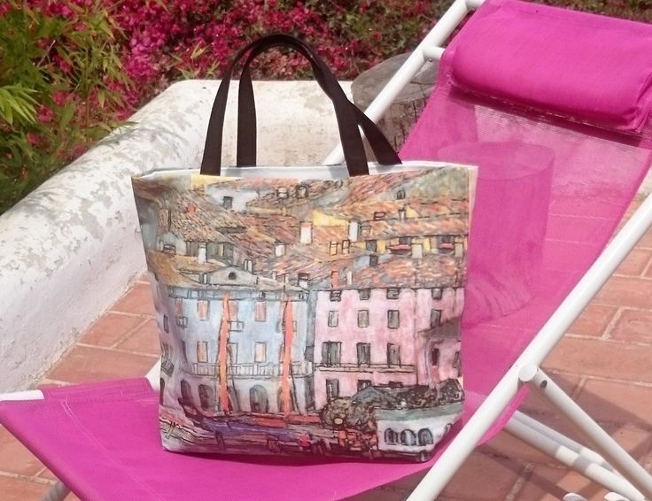 Beach totes, Gustav Klimt printed canvas bag, handbag for women, casual chic handbags, handmade canvas totes by SUNSUELLE on Etsy https://www.etsy.com/listing/218589958/beach-totes-gustav-klimt-printed-canvas