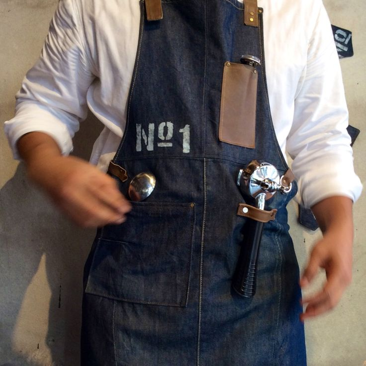 Barista Apron Apron Amp Hand Sewing Leather Pinterest