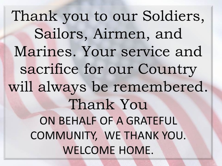 Thank you to our Soldiers, Sailors, Airmen, and Marines. Your service and sacrifice for our ...