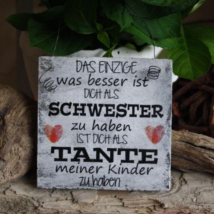 """Shabby Schild """"Das Einzige Schwester und Tante"""" Deko Holz Schild Geschenk"""