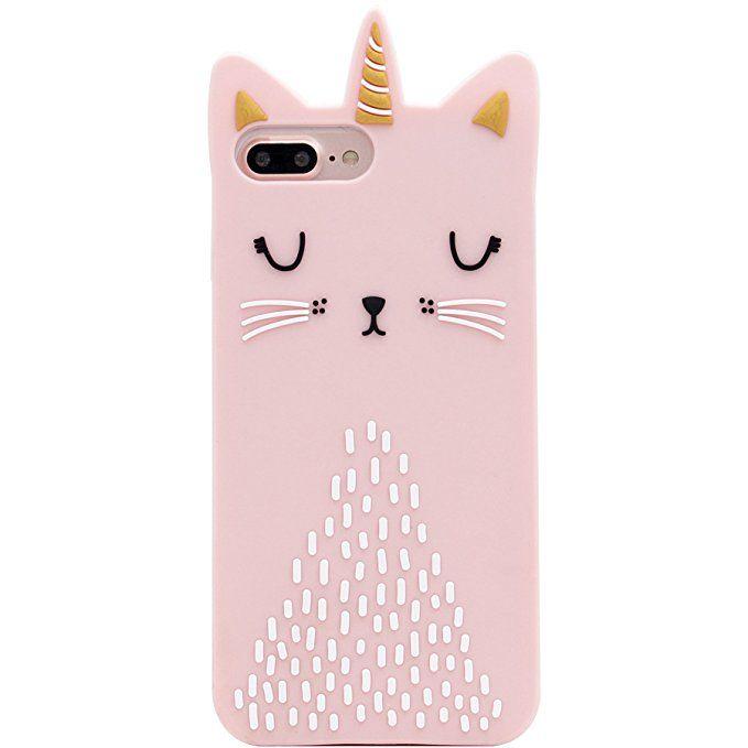 iPhone 8 Plus Case, iPhone 7 Plus Case, MC Fashion Cute 3D Cat ...