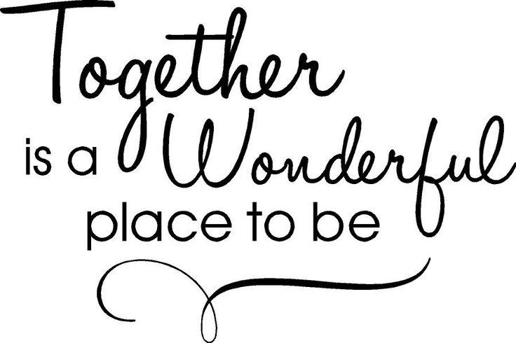 togetherness!