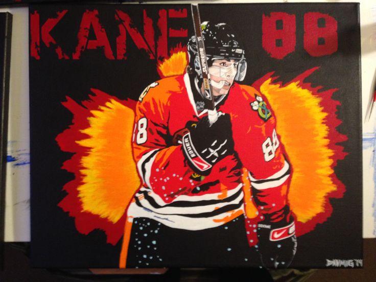 "Patric Kane Acrylic Painting (16""x20"")"