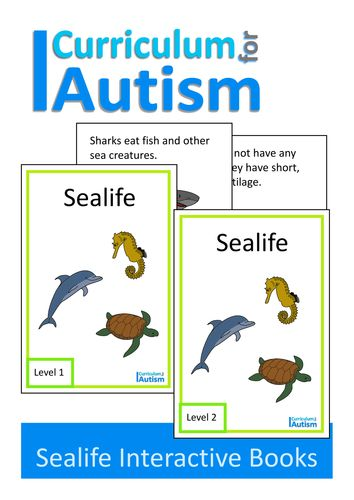 Sealife Interactive Adapted Book, Autism, Special Education