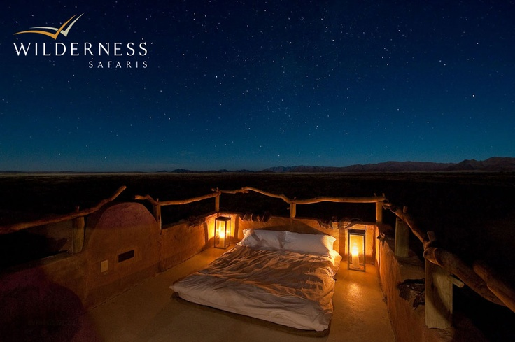 Little Kulala - Each kulala has a rooftop 'skybed' for romantic stargazing. #Safari #Africa #Namibia #WildernessSafaris