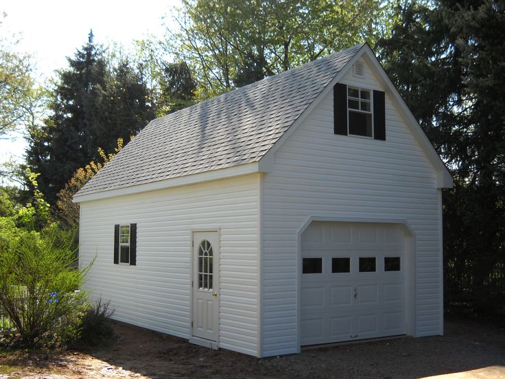 1 Car Garages Amish : Best images about two story single car garage