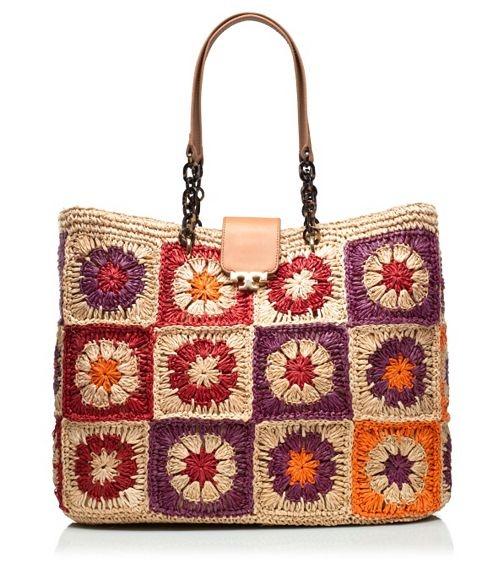 Fache Woven Tote -- I admit a fondness for colorful bags like these. I would search Etsy and Ebay for vintage examples to save $$.