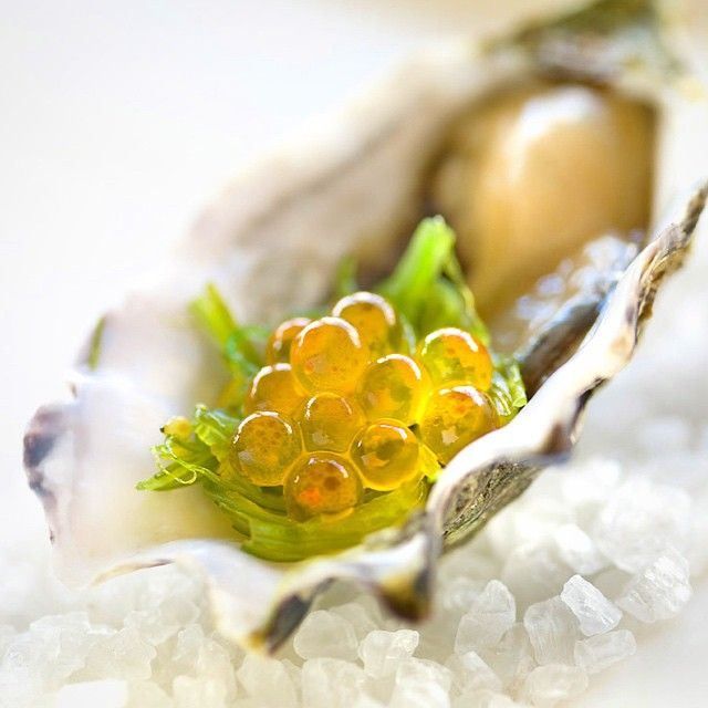 Caviar on Oyster by Chef Max Paganoni @ RedHill Estate, Mornington, VIC. Photo by Mauro Risch