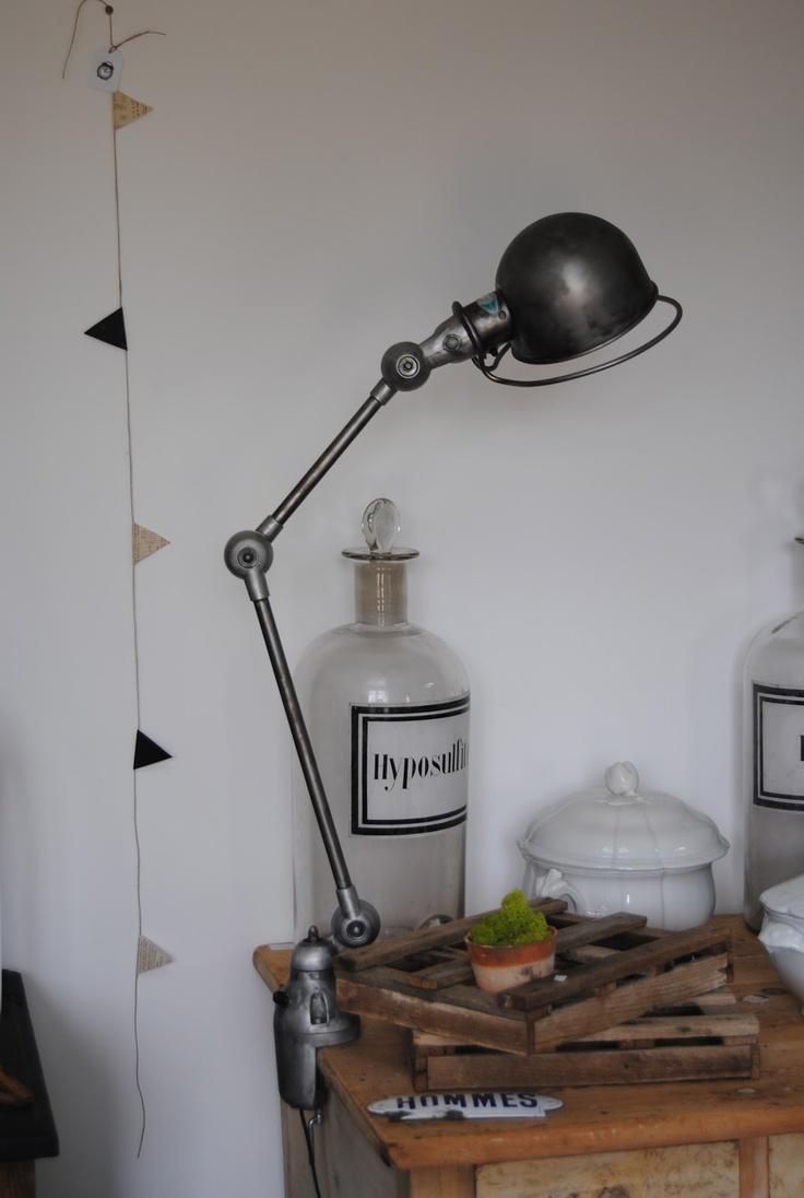 jielde lamp - apothecary bottle