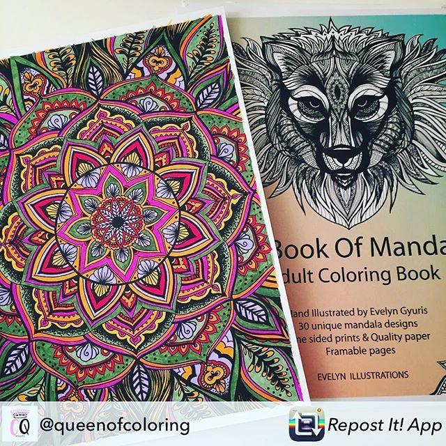 Repost from @queenofcoloring using @RepostRegramApp - I'm coloring my way through this gorgeous mandala colouring book - #coloringforadults #colouring #handmade #mandala #mandalaart #tombowmarkers 🌈 #coloringbook #art #etsy #handmade #coloringbook #kleuren #felnőttszínező #design #drawing #mandalaart #mandalas #colors #colorir #colorful #zentangle