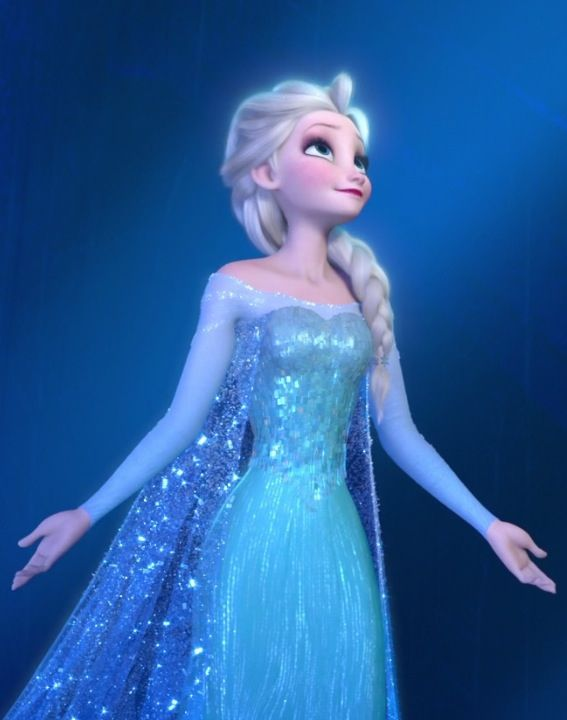 Disney's Frozen • Queen Elsa I love how she's like presenting the castle kind of like 'yeah i made it...YA LIKE?'