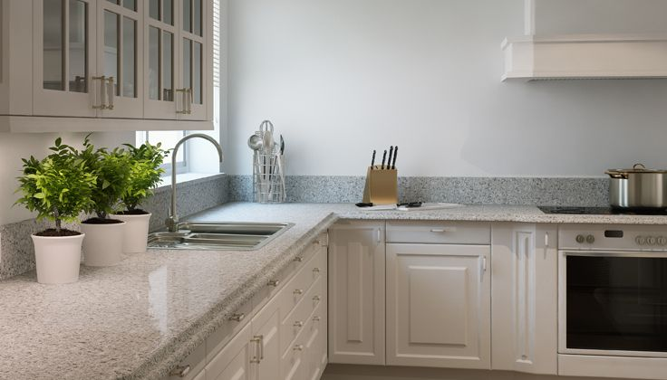 Caesarstone Atlantic Salt 6270 Traditional Kitchen With