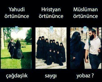 Yahudilik, Hıristiyanlık ve sonunda Müslümanlık her alanda birbirinin kopyasıdır