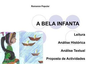 Apresentação de Mónica Oliveira Bela Infanta texto/análise/ etc