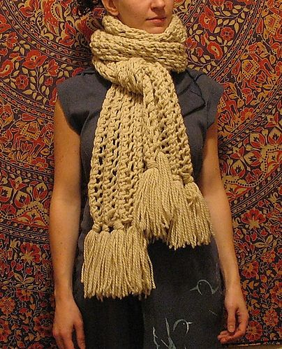 Free bulky #knit scarf pattern.