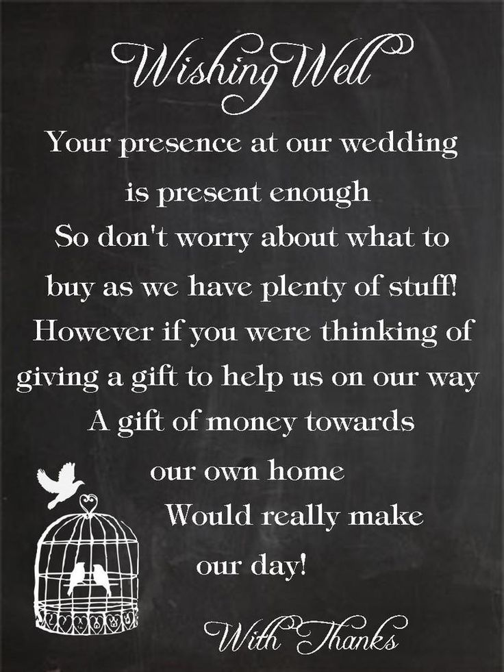 Wedding Money Gift Quotes : ... Wedding on Pinterest Wishing well poems, Wedding card holders and