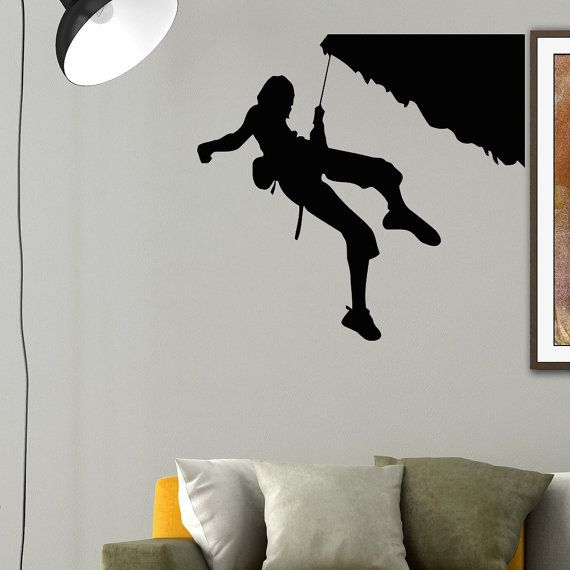 Vinyl Wall Decals Rock Climber Climbing Extreme от WisdomDecals