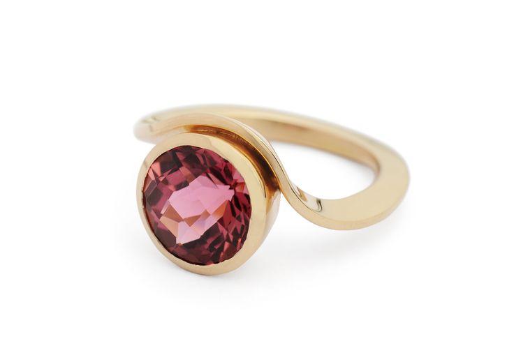18ct rose gold and pink tourmaline ring by McCaul Goldsmiths.   #jewellery #jewelry #alternativebridal #rosegold