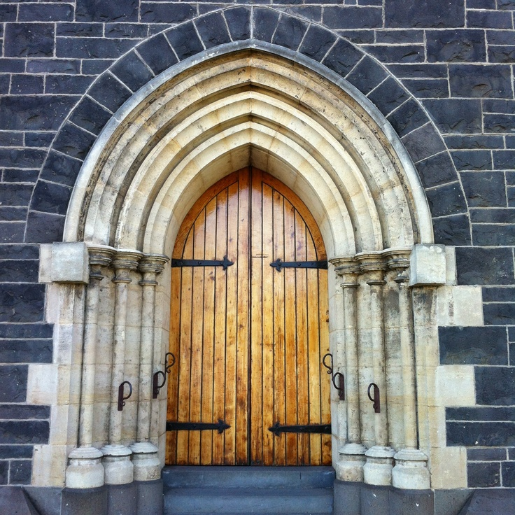 Church door in Williamstown, Victoria