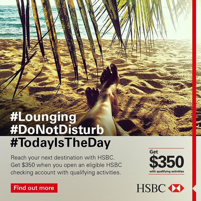 Qualified Customers Will Automatically Receive a $350 Welcome Deposit Into Their New HSBC Checking Account: Qualified… #coupons #discounts