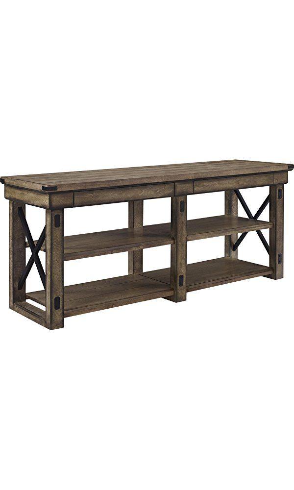 "Altra Furniture Wild Wood Veneer TV Stand, 65"", Rustic Gray Best Price"