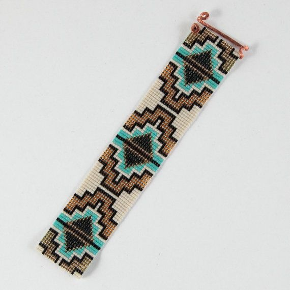 Named after a New Mexican city I love, this Abiquiu Bead Loom bracelet is inspired by the beautiful patterns I see around me here in Albuquerque, New
