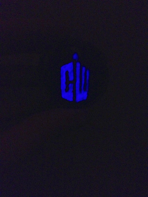 Handmade Glow in the Dark Doctor Who Dr Who by FireWoodCrafts, €15.00